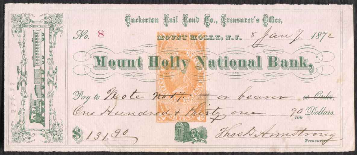 Bank draft mount holly national bank ebay for Motor vehicle in mt holly nj
