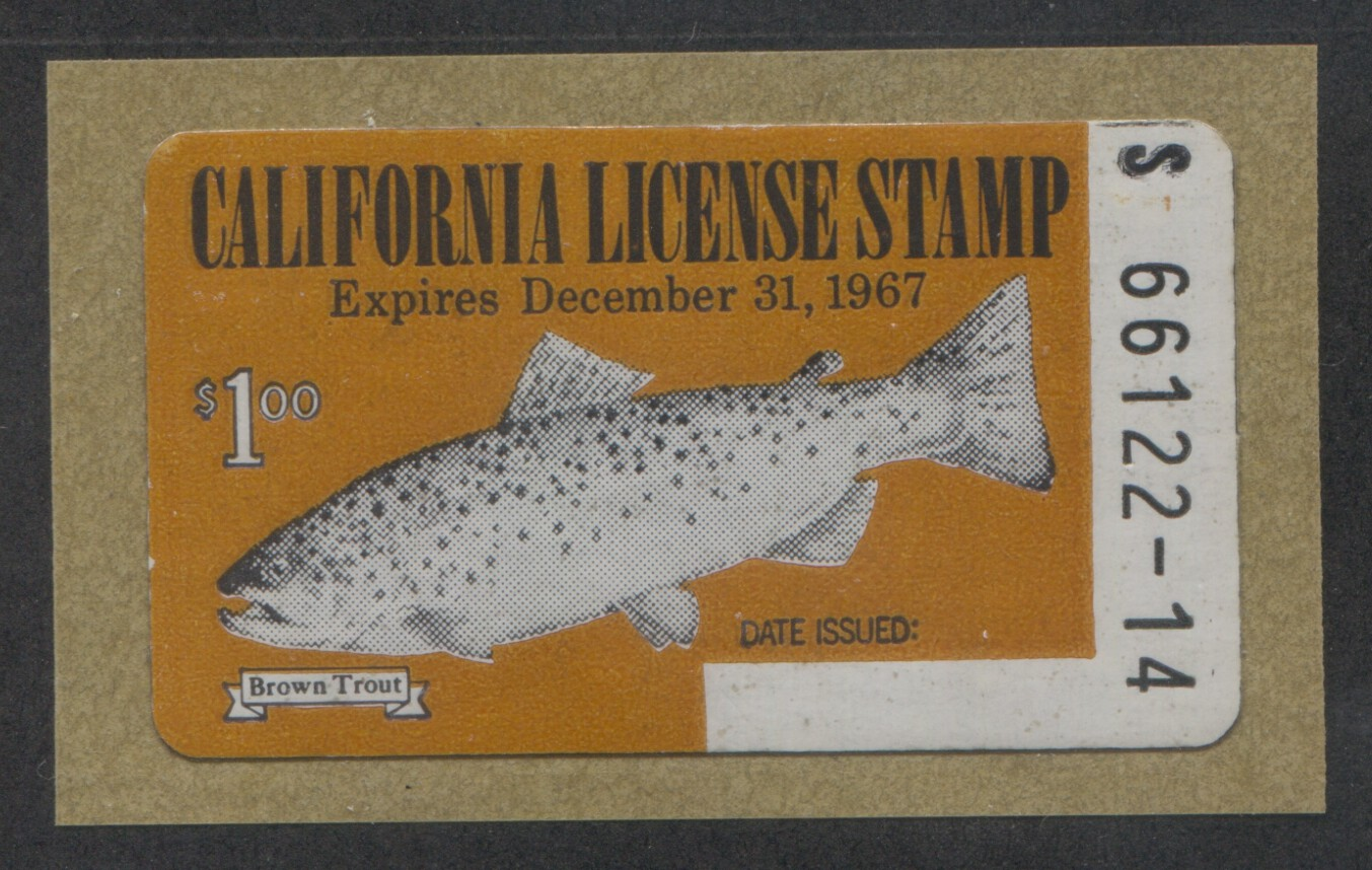 California revenue stamp fishing license wooton 10 ebay for How much is a fishing license in california