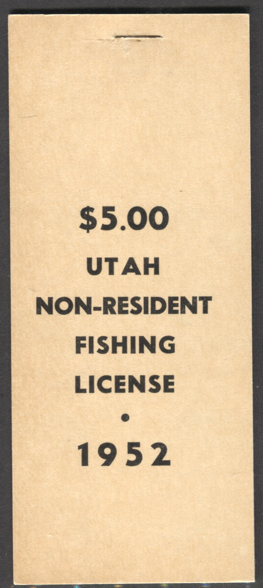 Utah revenue stamps fishing license wooton 9 ebay for Louisiana non resident fishing license